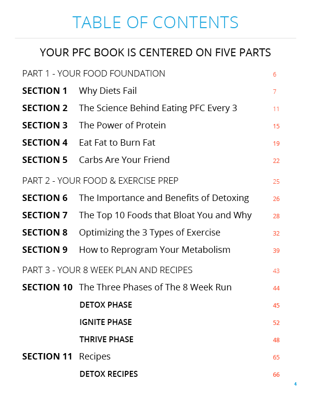 PFC Book Table of Contents 1