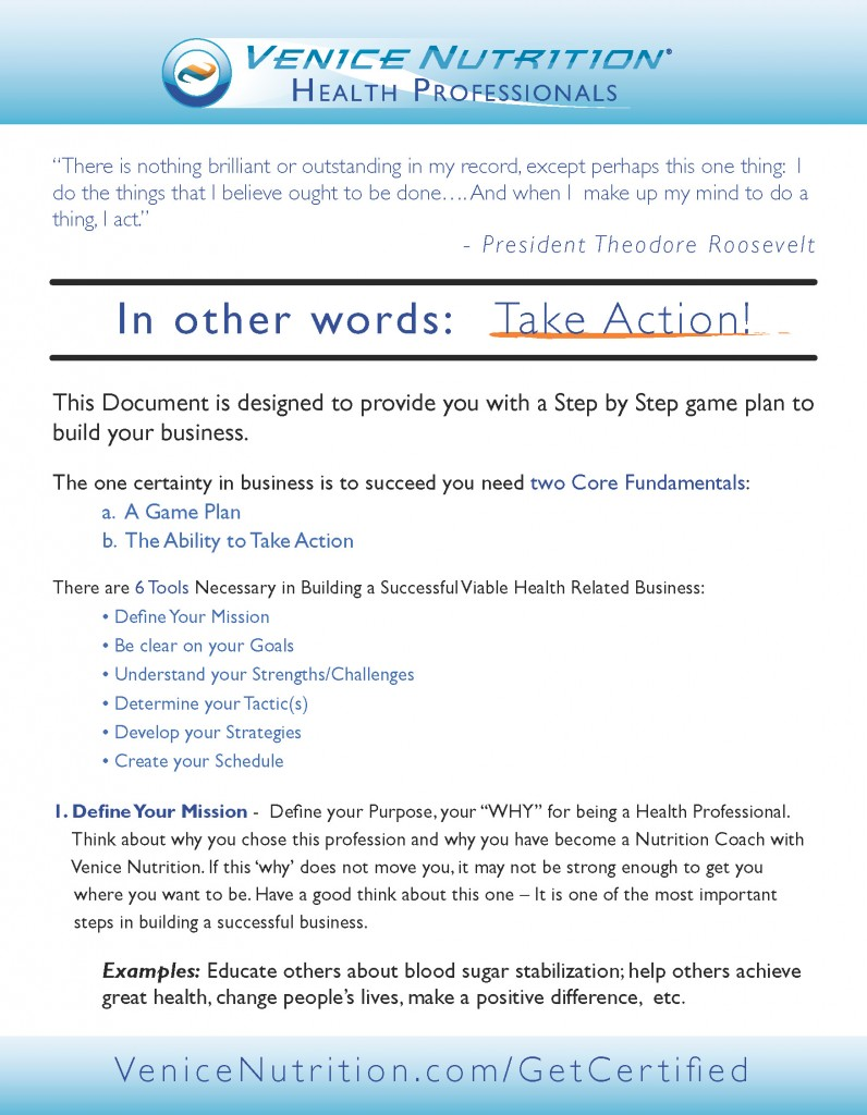 Step By Step Action Plan