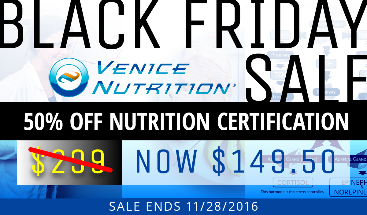 Black Friday Nutrition Certification Sale