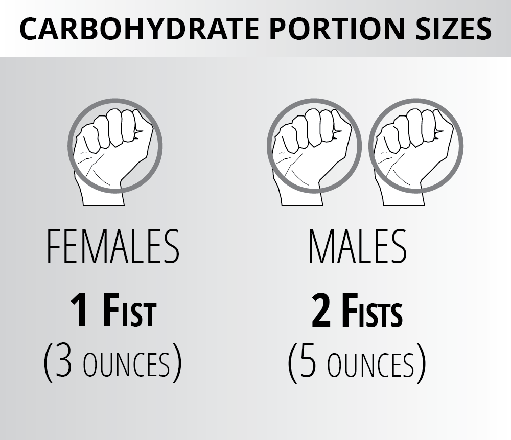 Ignite Phase Carbs - Portion Sizes