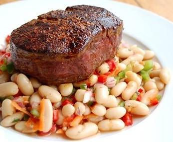 Filet Mignon and White Bean Salad